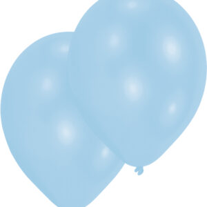Ballons perlmutt-hellblau10 Stk