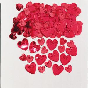 Konfetti liebende Herzen rot