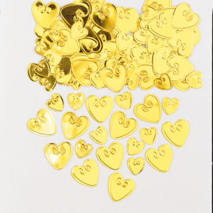 Konfetti liebende Herzen gold