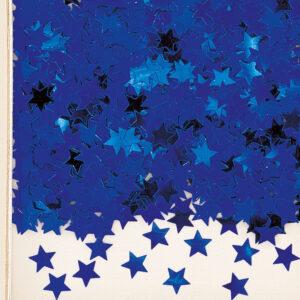 Konfetti Sterne blau