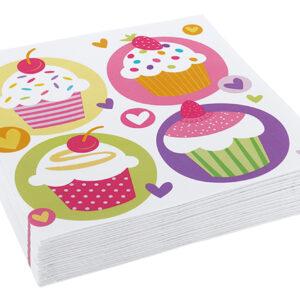 Servietten mit Cupcake-Muster