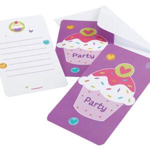 Einladungskarten Cupcake 6Stk