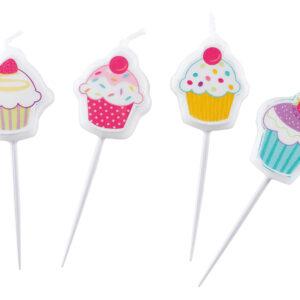 Kerzen Cupcake Mini 4Stk