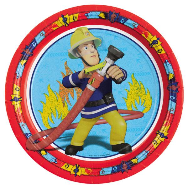 Pappteller Feuerwehrmann Sam 23cm 8Stk