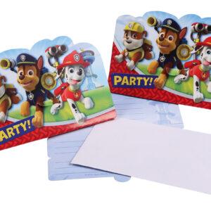 Einladungskarten Paw Patrol 8Stk