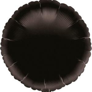 Folienballon rund schwarz 45cm/ 18 Inch