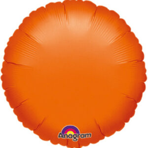 Folienballon rund orange 45cm/ 18 Inch