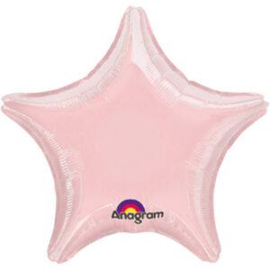 Folienballon Stern irisierend rosa 45cm/ 18 Inch