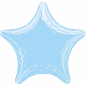 Folienballon Stern pastelblau 45cm/ 18 Inch