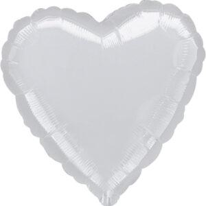 Folienballon Herz silber 45cm/ 18 Inch