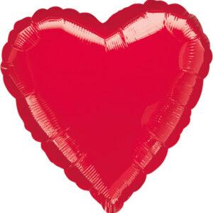 Folienballon Herz  Herzlichen Glückwunsch rot 45cm/ 18 Inch