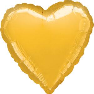 Folienballon Herz gold 45cm/ 18 Inch