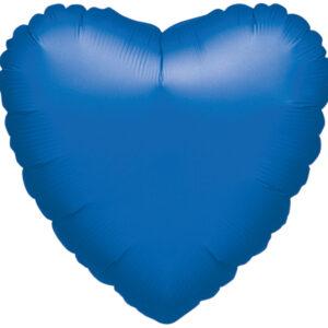 Folienballon Herz saphirblau 45cm/18inch