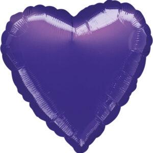 Folienballon Herz violett 45cm/ 18 Inch