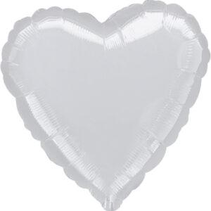 Folienballon Herz silber 91cm/ 36 Inch