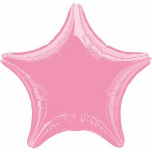 Folienballon Stern rosa 45cm/ 18 Inch