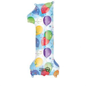 Folienballon Nummer 1 Ballons & Luftschlangen