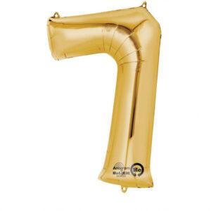 Folienballon Nummer 7 gold 81cm