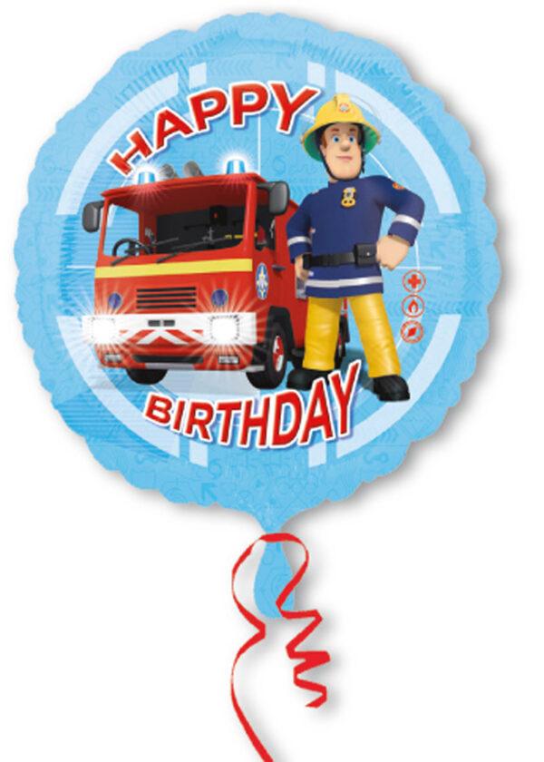 Folienballon Feuerwehrmann Sam Happy Birthday