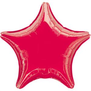 Folienballon Stern rot 45cm/ 18 Inch