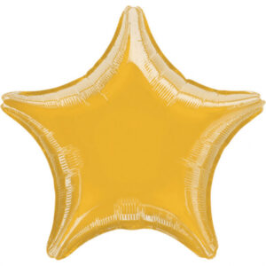 Folienballon Stern gold 45cm/ 18 Inch