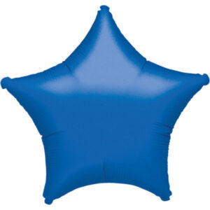 Folienballon Stern saphirblau 45cm/ 18inch
