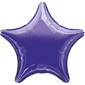 Folienballon Stern violett 45cm/ 18 Inch