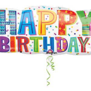 Folienballon Happy Birthday Type