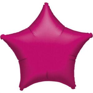 Folienballon Stern fuchsia 45cm/ 18 Inch