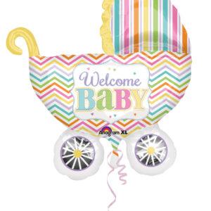 Folienballon Babywiege