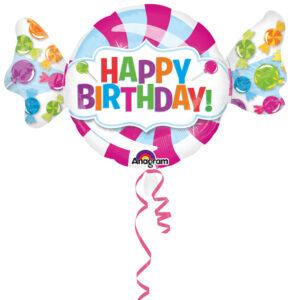 Folienballon Bonbon Happy Birthday  101cm/ 40 Inch