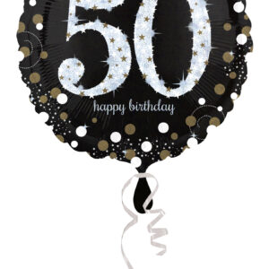 Folienballon holografisch 50 schwarz 45cm/ 18 Inch