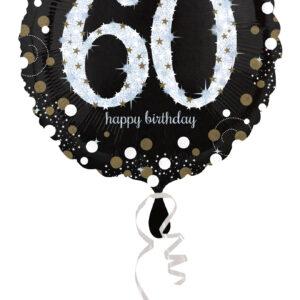 Folienballon holografisch 60 schwarz 45cm/ 18 Inch