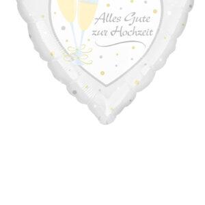 Folienballon Alles Gute zur Hochzeit  45cm/ 18 Inch