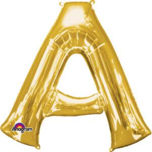 Folienballon Buchstaben A gold 83cm/ 33 Inch