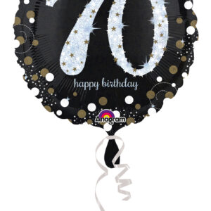 Folienballon holografisch 70 schwarz 45cm/ 18 Inch