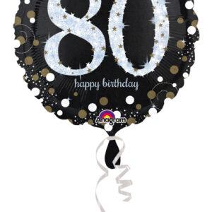Folienballon holografisch 80 schwarz 45cm/ 18 Inch