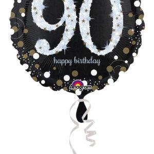 Folienballon holografisch 90 schwarz 45cm/ 18 Inch