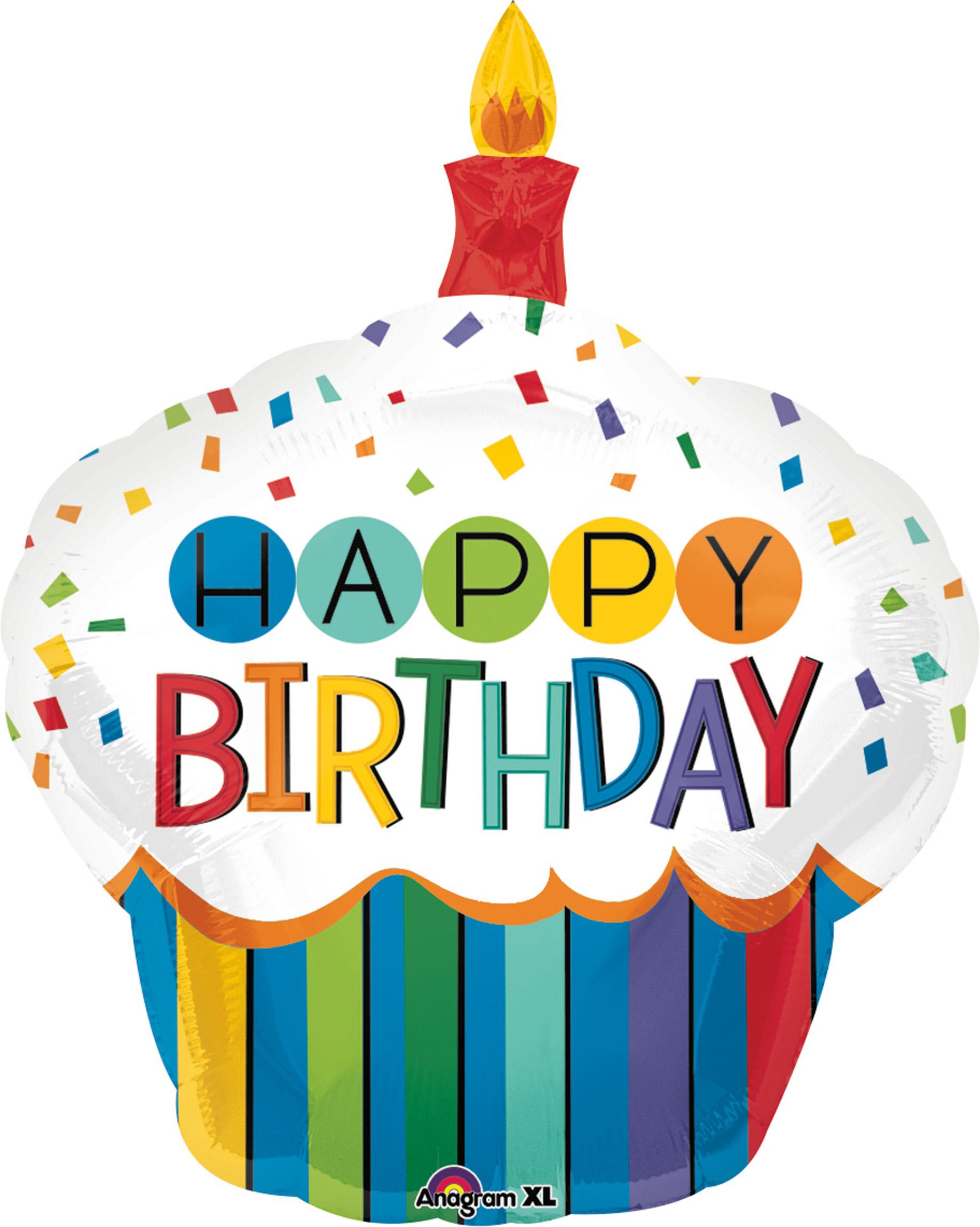 Folienballon Rainbow Birthday Cake