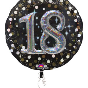 Folienballon 18. Geburtstag glitzer 81x 81cm/ 32 Inch