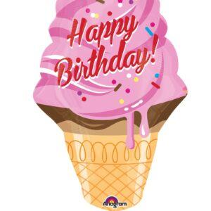Folienballon Geburtstags-Eistüte