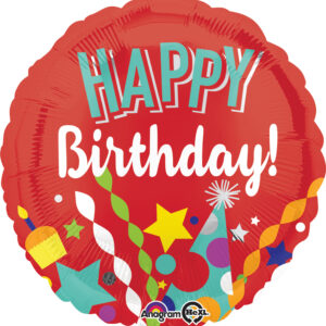 Folienballon Happy Birthday 45cm/ 18 Inch