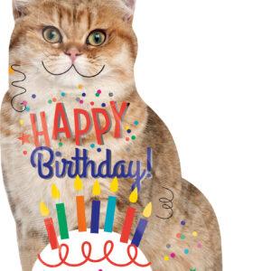 Folienballon Happy Birthday Katze