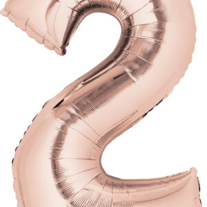 Folienballon Nummer 2 rose-gold 81cm