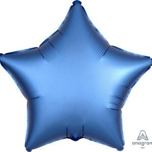Folienballon Stern blau 45cm/ 18 Inch
