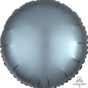 Ballon rund stahlblau 45cm