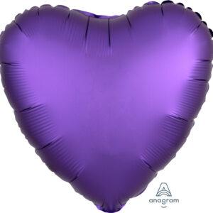 Folienballon Herz Satin lila 45cm/ 18 Inch