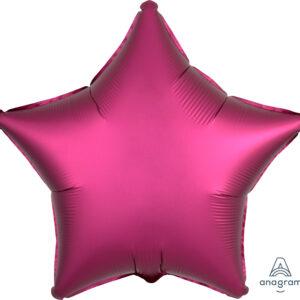 Ballon Stern magenta, 45cm/ 18 Inch