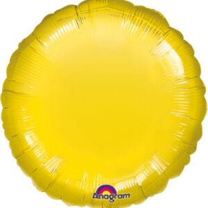 Folienballon rund gelb 45cm/ 18 Inch
