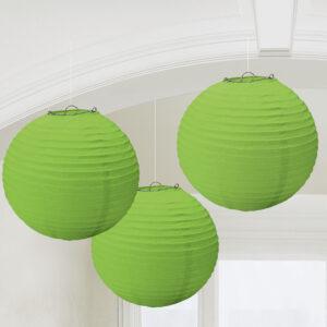 Papierlaternen kiwi grün
